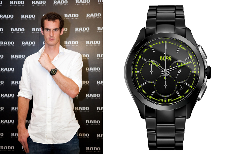 c1dc706c591 Andy Murray Sports the New Rado Hyperchrome Court Collection Green ...
