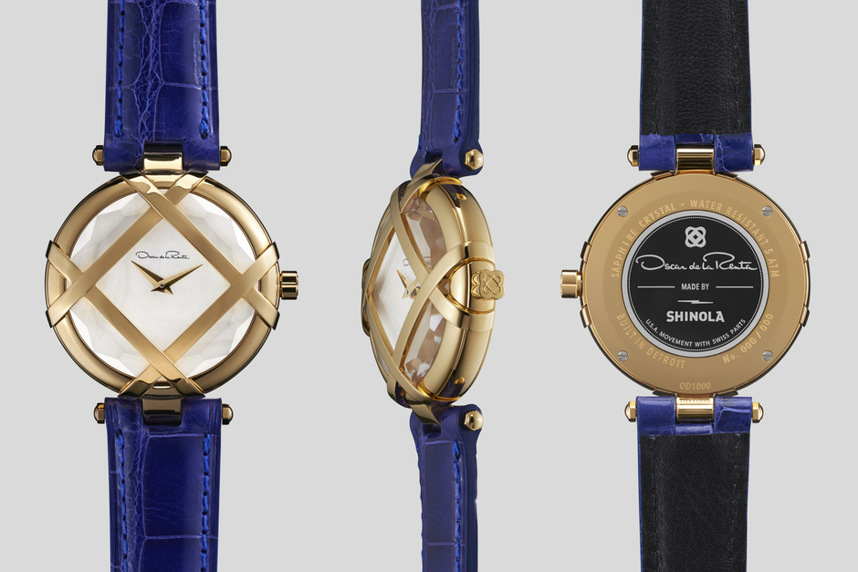 Oscar de la Renta and Shinola Present the Lattice Watch