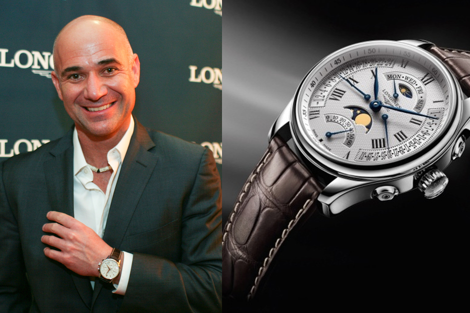 Andre Agassi Longines Master Collection Retrograde