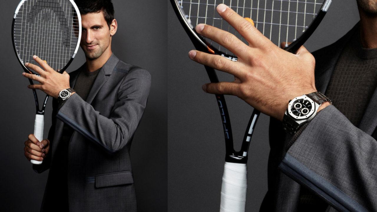 Novak Djokovic Sports The Audemars Piguet Royal Oak Day Date Watch Marvel