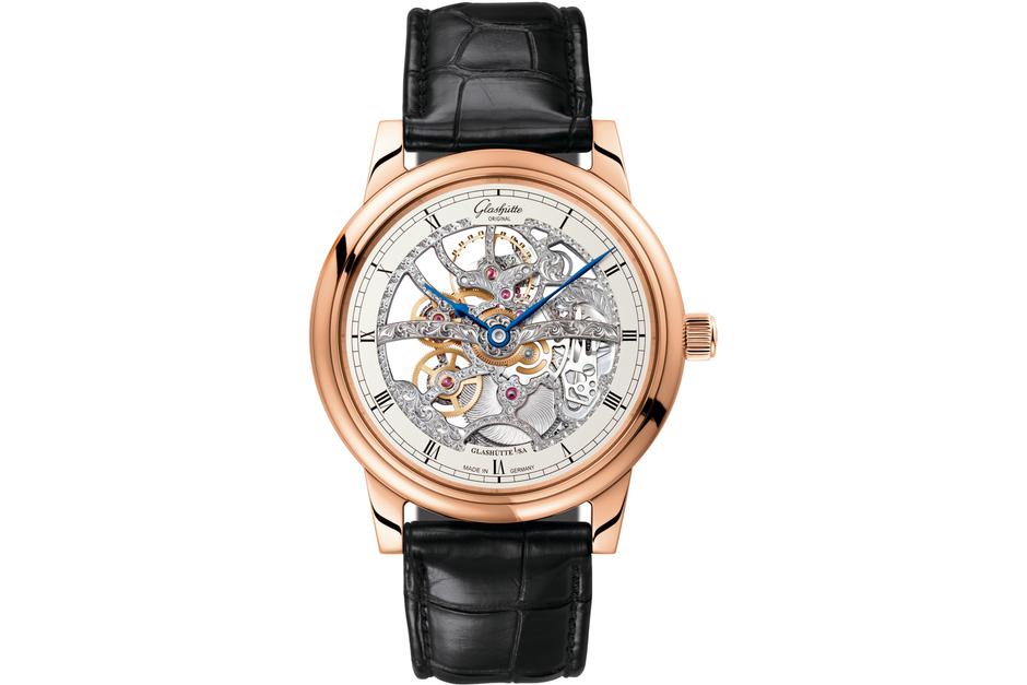 The Glashütte Original Senator Manual Winding Skeleton Watch 8