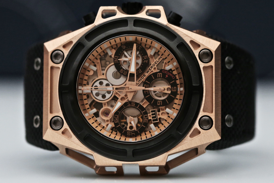 Linde Werdelin SpidoSpeed Rose Gold Black